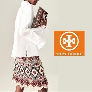 Tory Burch White Sophie Bell Sleeve B…